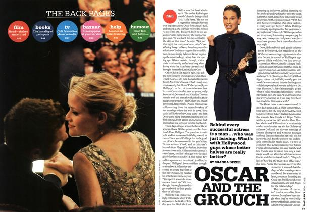 Article Preview: OSCAR AND THE GROUCH, NOV. 20th 2006 2006 | Maclean's