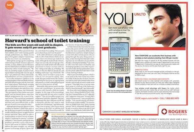 Article Preview: Harvard's school of toilet training, NOV. 20th 2006 2006 | Maclean's