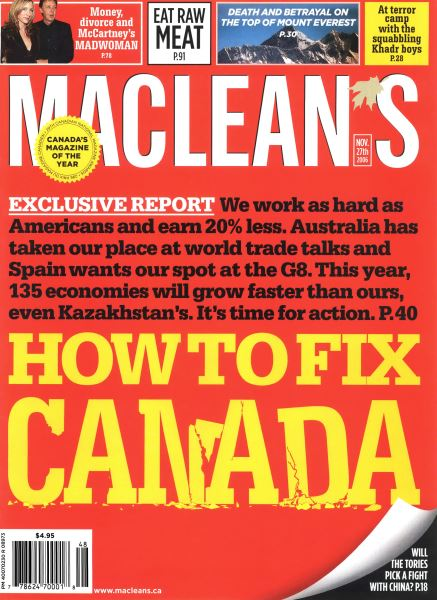 Issue: - NOV. 27th 2006 | Maclean's