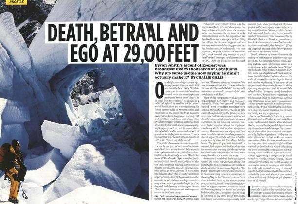 Article Preview: DEATH, BETRAYAL EGO AT 29,000 FEET, NOV. 27th 2006 2006 | Maclean's