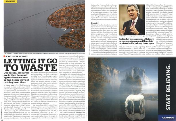 Article Preview: LETTING IT GO TO WASTE, NOV. 27th 2006 2006 | Maclean's