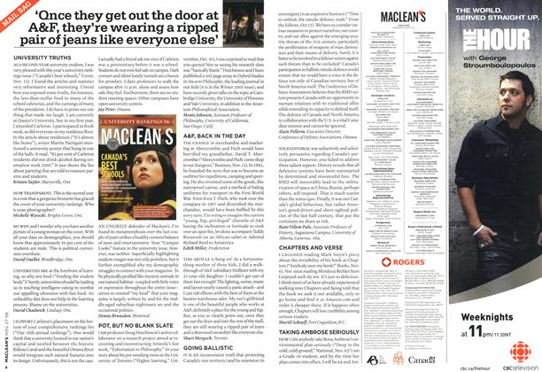 Article Preview: MAIL BAG, NOV. 27th 2006 2006 | Maclean's