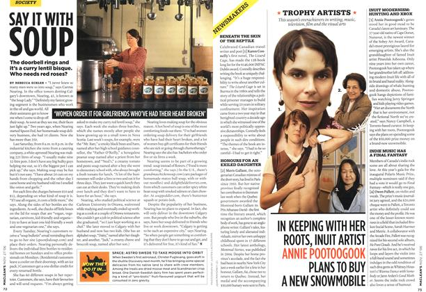 Article Preview: SAY IT WITH SOUP, NOV. 27th 2006 2006 | Maclean's