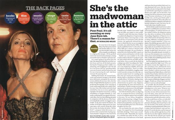 Article Preview: She's the madwoman in the attic, NOV. 27th 2006 2006   Maclean's