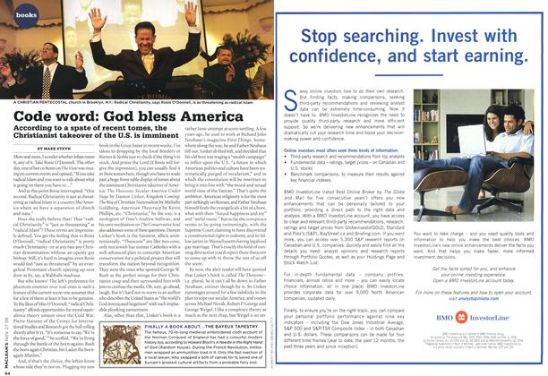 Article Preview: Code word: God bless America, NOV. 27th 2006 2006 | Maclean's