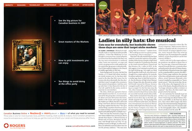 Article Preview: Ladies in silly hats: the musical, NOV. 27th 2006 2006 | Maclean's