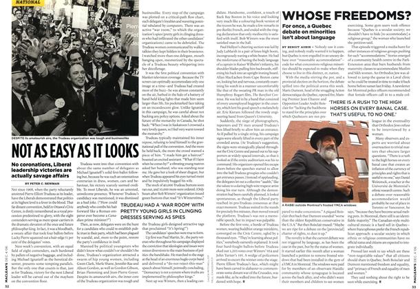 Article Preview: NOT AS EASY AS IT LOOKS, DEC. 4th 2006 2006 | Maclean's