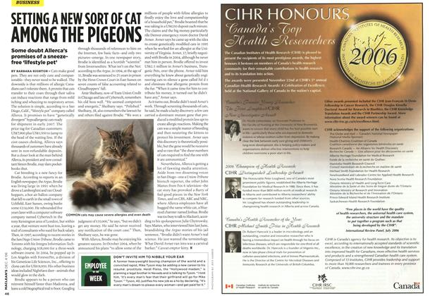 Article Preview: SETTING A NEW SORT OF CAT AMONG THE PIGEONS, DEC. 4th 2006 2006 | Maclean's