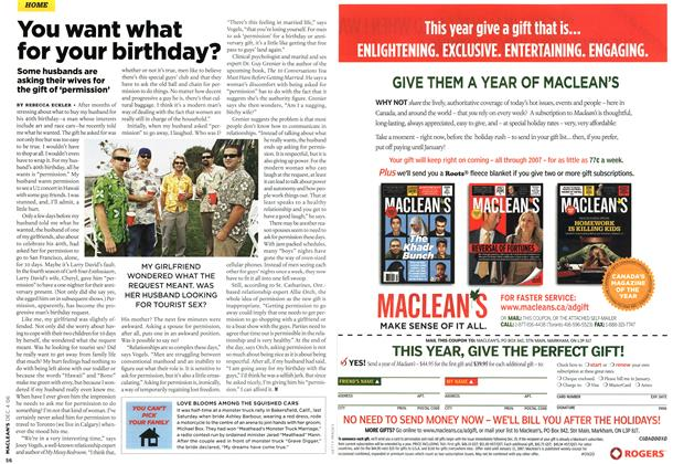 Article Preview: You want what for your birthday?, DEC. 4th 2006 2006 | Maclean's
