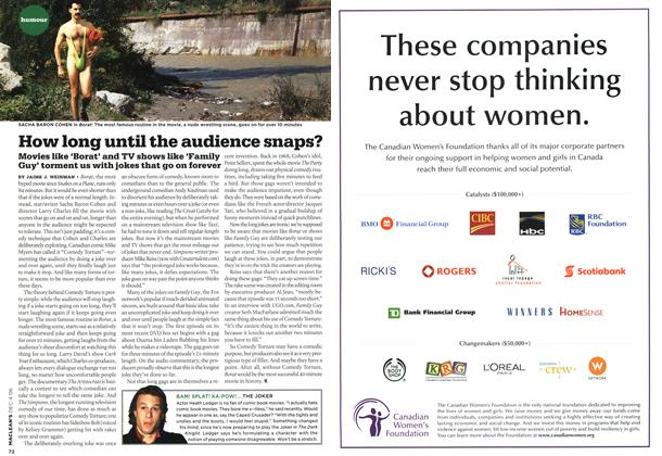 Article Preview: How long until the audience snaps?, DEC. 4th 2006 2006   Maclean's