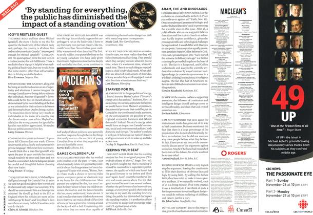 Article Preview: MAIL BAG, DEC. 4th 2006 2006 | Maclean's
