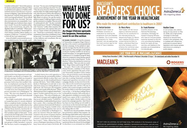 Article Preview: WHAT HAVE YOU DONE FOR US?, DEC. 11th 2006 2006 | Maclean's