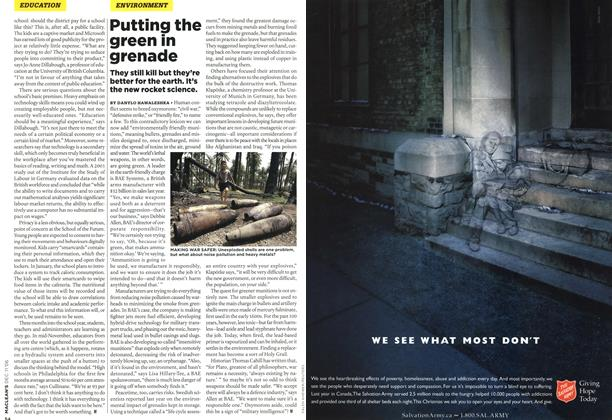 Article Preview: Putting the green in grenade, DEC. 11th 2006 2006 | Maclean's