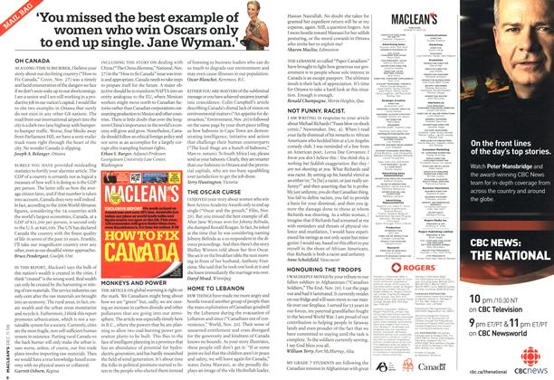 Article Preview: MAIL BAG, DEC. 11th 2006 2006 | Maclean's