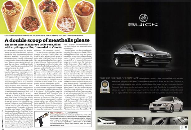Article Preview: A double scoop of meatballs please, December 2006 | Maclean's