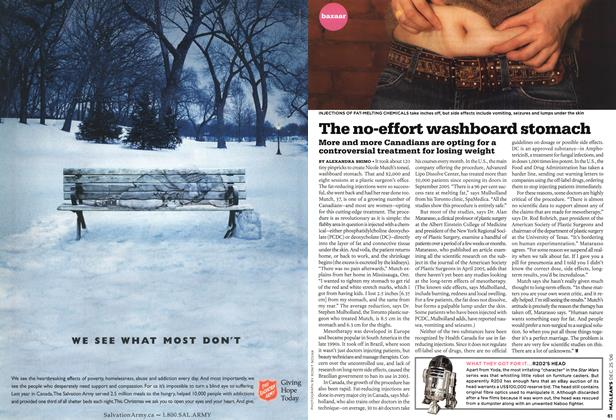 Article Preview: The no-effort washboard stomach, December 2006 | Maclean's