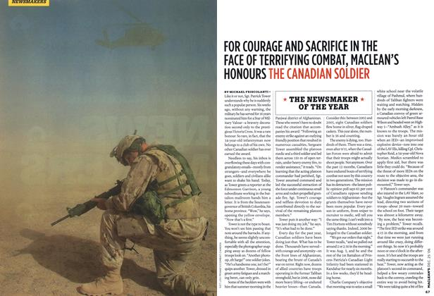 Article Preview: FOR COURAGE AND SACRIFICE IN THE FACE OF TERRIFYING COMBAT, MACLEAN'S HONOURS THE CANADIAN SOLDIER, December 2006 | Maclean's