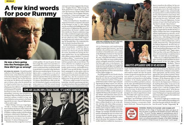 Article Preview: A few kind words for poor Rummy, JAN. 1st 2007 2007 | Maclean's