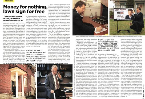 Article Preview: Money for nothing, lawn sign for free, JAN. 1st 2007 2007   Maclean's
