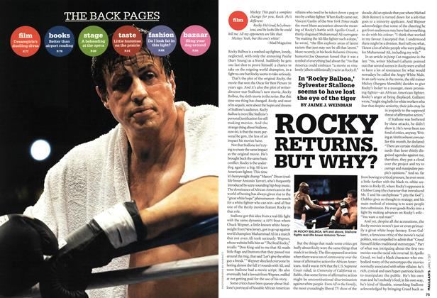 Article Preview: ROCKY RETURNS. BUT WHY?, JAN. 1st 2007 2007 | Maclean's