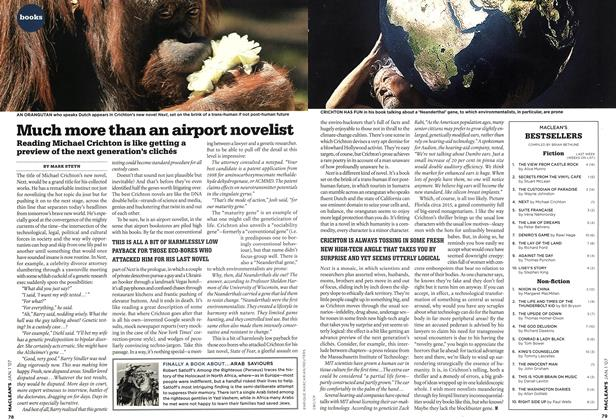 Article Preview: Much more than an airport novelist, JAN. 1st 2007 2007 | Maclean's