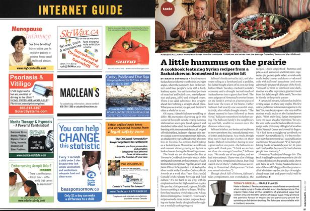 Article Preview: A little hummus on the prairie, JAN. 1st 2007 2007 | Maclean's