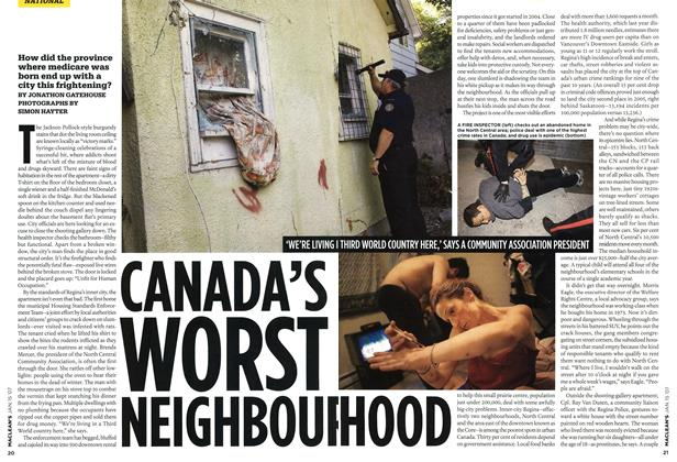 Article Preview: CANADA'S WORST NEIGHBOURHOOD, JAN. 15th 2007 2007 | Maclean's