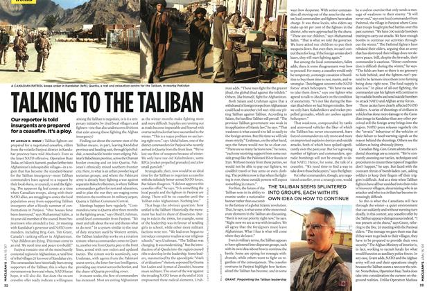 Article Preview: TALKING TO THE TALIBAN, JAN. 15th 2007 2007 | Maclean's