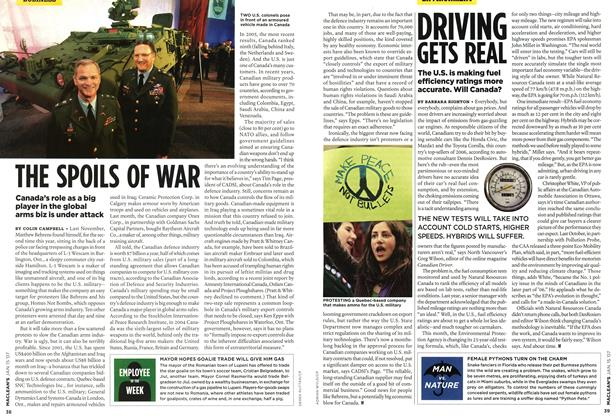 Article Preview: THE SPOILS OF WAR, JAN. 15th 2007 2007 | Maclean's