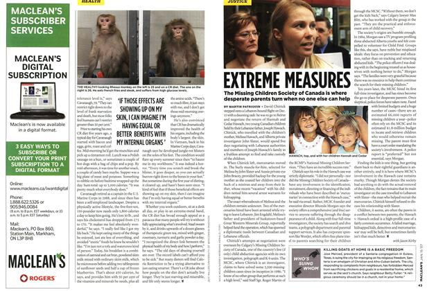 Article Preview: EXTREME MEASURES, JAN. 15th 2007 2007 | Maclean's