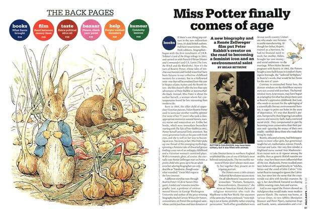 Article Preview: Miss Potter finally comes of age, JAN. 15th 2007 2007 | Maclean's