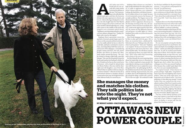 Article Preview: OTTAWA'S NEW POWER COUPLE, JAN. 22nd 2007 2007 | Maclean's