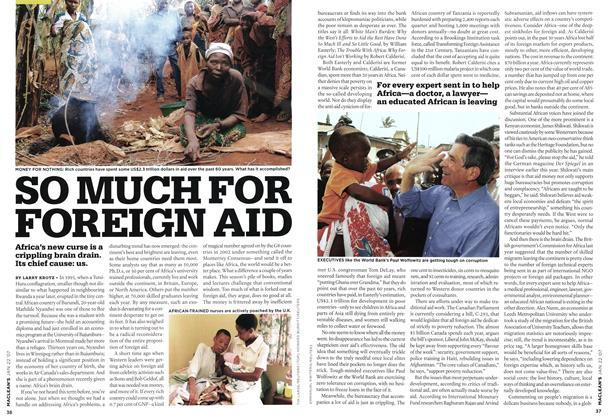 Article Preview: SO MUCH FOR FOREIGN AID, JAN. 22nd 2007 2007 | Maclean's