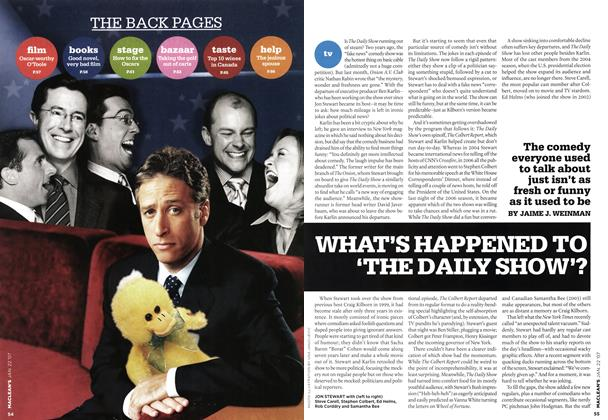 Article Preview: WHAT'S HAPPENED TO 'THE DAILY SHOW'?, JAN. 22nd 2007 2007 | Maclean's