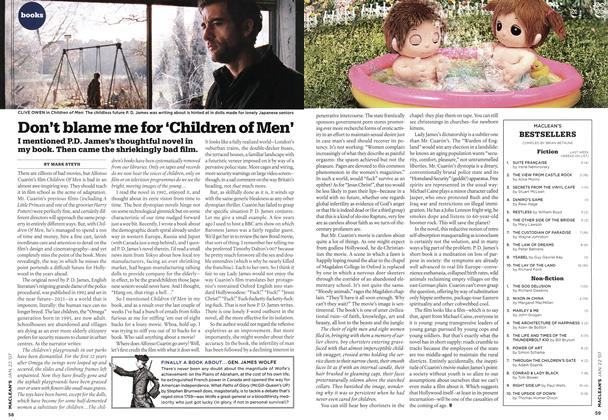 Article Preview: Don't blame me for 'Children of Men', JAN. 22nd 2007 2007 | Maclean's