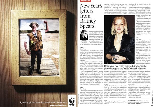Article Preview: New Year's letters from Britney Spears, JAN. 22nd 2007 2007 | Maclean's