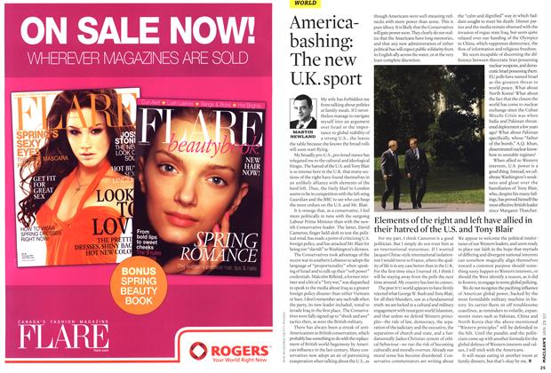 Article Preview: Americabashing: The new U.K. sport, JAN. 29th 2007 2007 | Maclean's