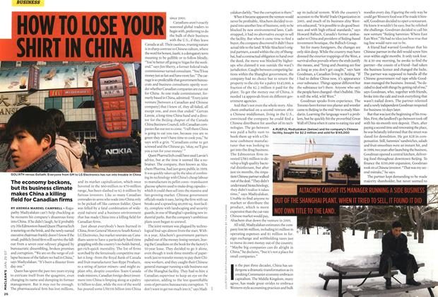 Article Preview: HOW TO LOSE YOUR SHIRT IN CHINA, JAN. 29th 2007 2007 | Maclean's