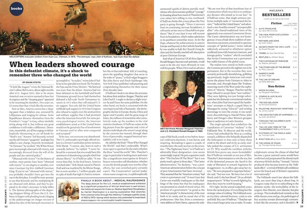 Article Preview: When leaders showed courage, JAN. 29th 2007 2007 | Maclean's