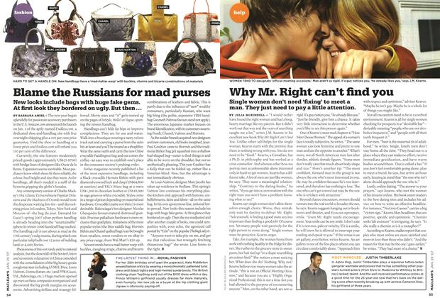 Article Preview: Blame the Russians for mad purses, JAN. 29th 2007 2007 | Maclean's