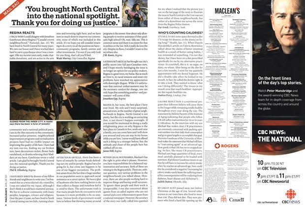 Article Preview: MAIL BAG, JAN. 29th 2007 2007 | Maclean's