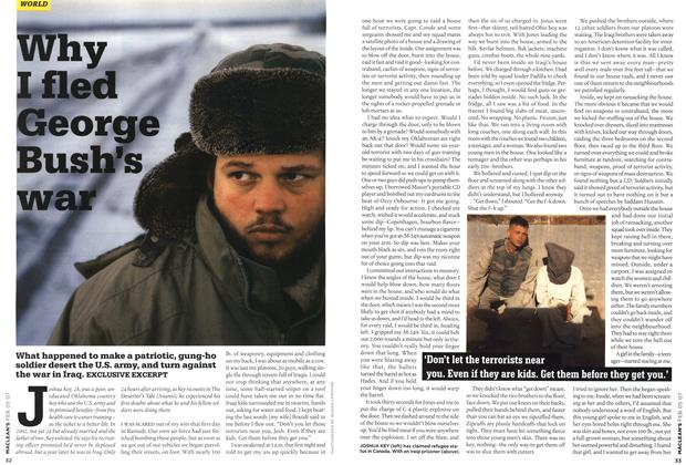 Article Preview: Why I fled George Bush's war, FEB. 5th 2007 2007 | Maclean's