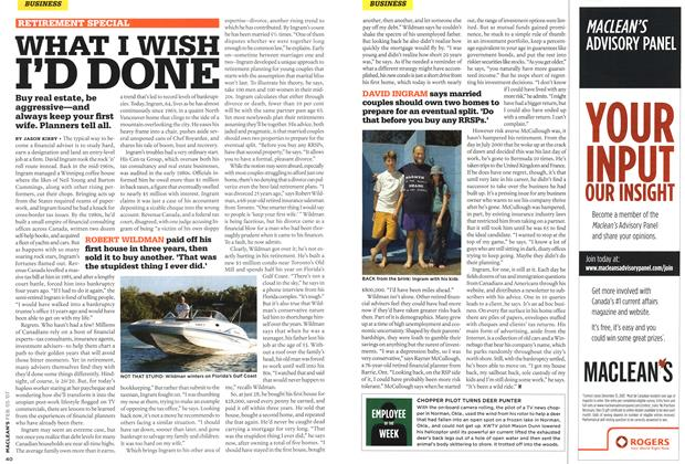 Article Preview: WHAT I WISH I'D DONE, FEB. 5th 2007 2007 | Maclean's
