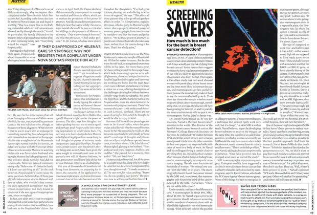 Article Preview: SCREENING, FEB. 5th 2007 2007 | Maclean's