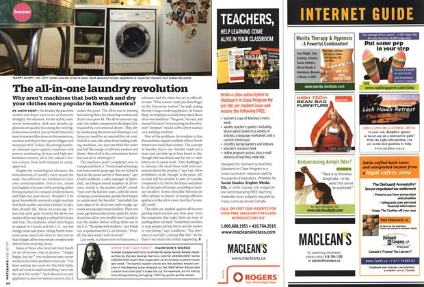 Article Preview: The all-in-one laundry revolution, FEB. 5th 2007 2007 | Maclean's