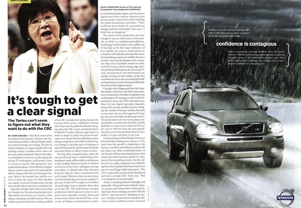 Article Preview: It's tough to get a clear signal, FEB. 12th 2007 2007 | Maclean's