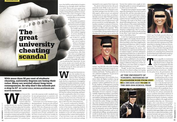 Article Preview: The great university cheating scandal, FEB. 12th 2007 2007 | Maclean's