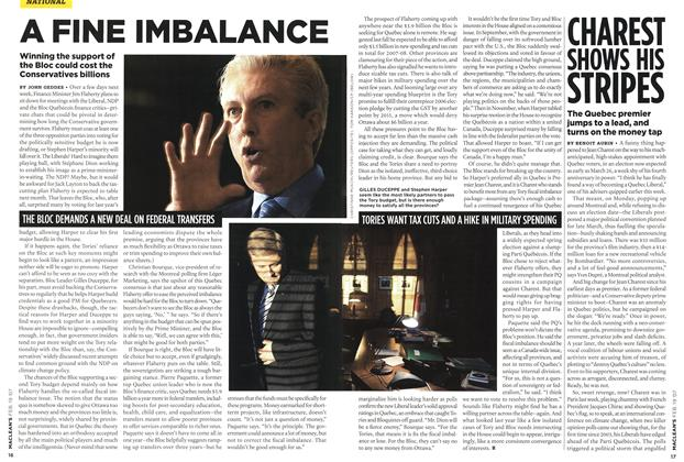 Article Preview: CHAREST SHOWS HIS STRIPES, FEB. 19th 2007 2007 | Maclean's