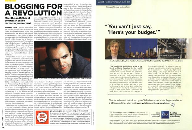 Article Preview: BLOGGING FOR A REVOLUTION, FEB. 19th 2007 2007 | Maclean's