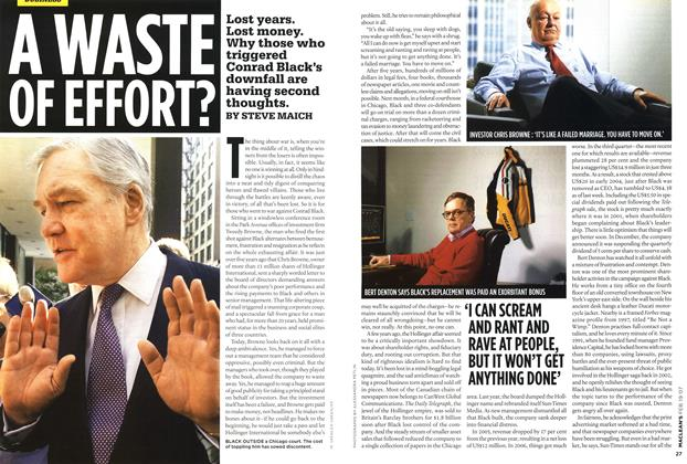 Article Preview: A WASTE OF EFFORT?, FEB. 19th 2007 2007 | Maclean's